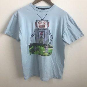 Volcom Light Blue Robot Shirt XL